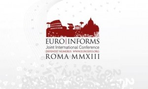 Euro/INFORMS 2013 sessions organization and presentation
