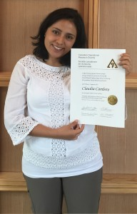 Congratulations to Claudia Cambero for winning the David Martell Student Paper Prize in Forestry!